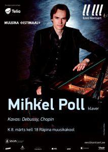 Eesti Kontsert esitleb: Mihkel Poll (klaver) @ Sillapää loss | Räpina | Põlva maakond | Eesti