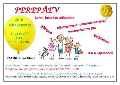 Perepäev Räpinas @ Räpina Avatud Noortekeskus | Räpina | Põlva maakond | Eesti