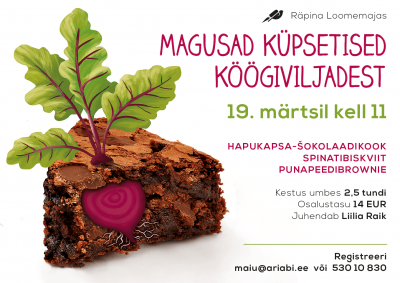 Koolitus: Magusad küpsetised köögiviljadest @ Räpina loomemaja | Räpina | Põlva maakond | Eesti