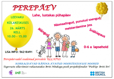 Perepäev Leevakul @ Leevaku külakeskus | Leevaku | Põlva maakond | Eesti