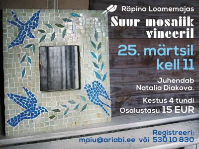 Koolitus: Suur mosaiik vineeril @ Räpina loomemaja | Räpina | Põlva maakond | Eesti