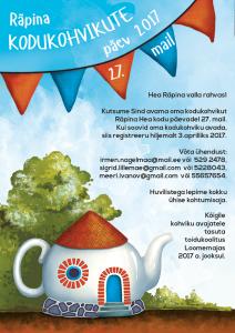 Kodukohvikute päev @ Räpina | Räpina | Põlva maakond | Eesti