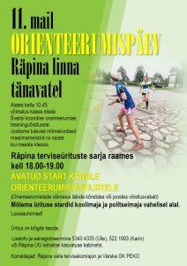 Orienteerumispäev @ Räpina Ühisgümnaasuim | Räpina | Põlva maakond | Eesti