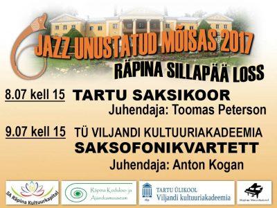 Jazz unustatud mõisas: Tartu saksikoor @ Räpina mõisa peahoone | Räpina | Põlva maakond | Eesti