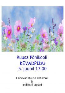 Kevadpidu Ruusal @ Ruusa Põhikool | Ruusa | Põlva maakond | Eesti