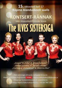 Kontsert-rännak: Läbi muusikalifilmide koos The Ilves Sistersiga @ Räpina Aianduskooli saal | Räpina | Põlva maakond | Eesti