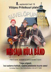 Suvelõpupidu Nedsaja küla bändiga @ Võõpsu pritsikuuri plats | Võõpsu | Põlva maakond | Eesti