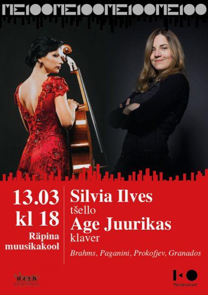 Kontsert: Silvia Ilves (tšello) ja Age Juurikas (klaver) @ Räpina Muusikakool | Räpina | Põlva maakond | Eesti