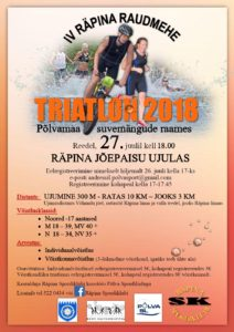 IV Räpina Raudmehe triatlon @ Räpina jõepaisu ujulas | Räpina | Põlva maakond | Eesti