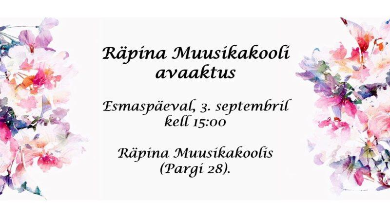 Räpina Muusikakooli avaaktus @ Räpina Muusikakool | Räpina | Põlva maakond | Eesti
