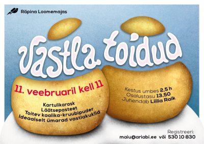 Töötuba: vastlatoidud @ Räpina loomemaja | Räpina | Põlva maakond | Eesti