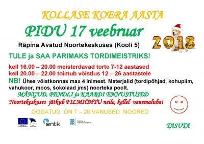 Kollase koera aasta pidu @ Räpina Avatud Noortekeskus | Räpina | Põlva maakond | Eesti