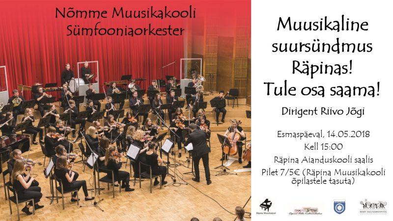 Nõmme muusikakooli sümfooniaorkestri kontsert @ Räpina Aianduskool | Räpina | Põlva maakond | Eesti