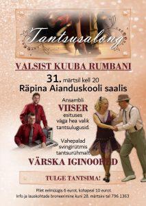 Tantsusalong: valsist kuuba rumbani @ Räpina Aianduskooli saal | Räpina | Põlva maakond | Eesti