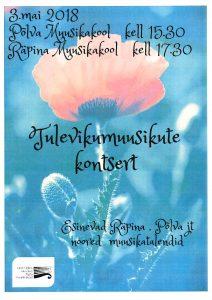 Tulevikumuusikute kontsert @ Räpina Muusikakool | Räpina | Põlva maakond | Eesti