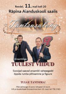 Tantsusalong @ Räpina Aianduskooli saal | Räpina | Põlva maakond | Eesti