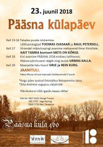 Külapäev PÄÄSNA 460 @ Pääsna küla | Põlva maakond | Eesti