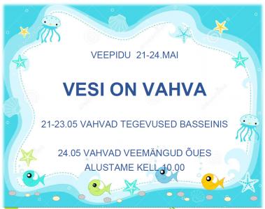 Veepidu @ Räpina Lasteaed Vikerkaar | Räpina | Põlva maakond | Eesti