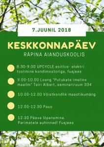 Keskkonnapäev Räpina Aianduskoolis @ Räpina Aianduskool | Räpina | Põlva maakond | Eesti