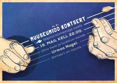 Muuseumiöö kontsert: oma laule ja luuletusi esitab Urmas Nagel @ Räpina loomemaja | Räpina | Põlva maakond | Eesti