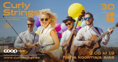 CURLY STRINGS EV100 kontserttuur @ Naha koolimaja juures | Naha | Põlva maakond | Eesti