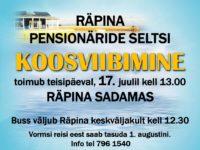 Räpina Pensionäride Seltsi koosviibimine @ Räpina sadam | Eesti
