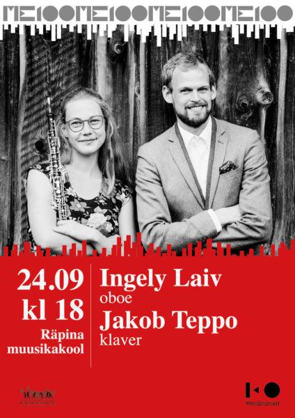 Kontsert: Ingely Laiv (oboe) ja Jakob Teppo (klaver) @ Räpina Muusikakool | Räpina | Põlva maakond | Eesti