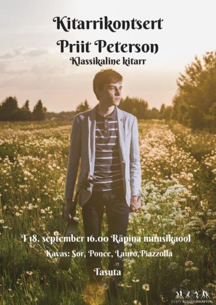 Kitarrikontsert: Priit Peterson @ Räpina Muusikakool | Räpina | Põlva maakond | Eesti