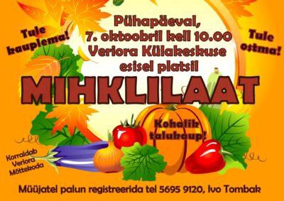 Mihklilaat @ Veriora külakeskuse esisel platsil   Veriora   Põlva maakond   Eesti
