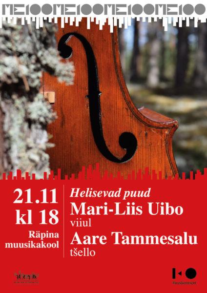 Kontsert: Mari-Liis Uibo (viiul) ja Aare Tammesalu (tšello) @ Räpina Muusikakool | Räpina | Põlva maakond | Eesti