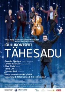 Jõulukuu kontsert TÄHESADU @ Räpina Aianduskooli saal | Räpina | Põlva maakond | Eesti