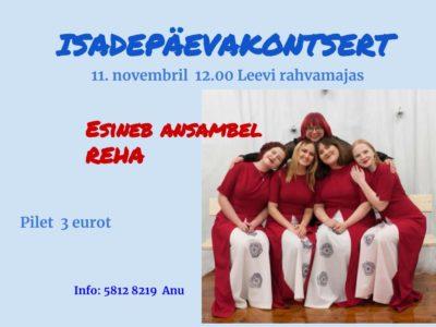 Isadepäeva kontsert Leevi rahvamajas @ Leevi Rahvamaja | Leevi | Põlva maakond | Eesti