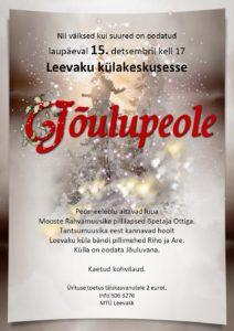 Jõulupidu Leevakul @ Leevaku külakeskuses | Eesti