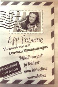 Kirjandusõhtu Epp Petronega @ Leevaku raamatukogu | Leevaku | Põlva maakond | Eesti