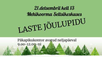 Laste jõulupidu @ Meeksi Valla  Seltsikeskus | Mehikoorma | Tartu maakond | Eesti
