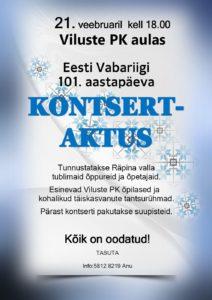 Eesti Vabariigi aastapäeva kontsert-aktus @ Viluste Põhikooli aulas | Põlva maakond | Eesti