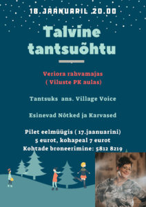 Talvine tantsuõhtu @ Veriora Kultuurimaja | Põlva maakond | Eesti