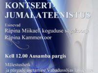 Eesi Vabariigi 101. aastapäeva tähistamine Räpinas @ Räpina Püha Miikaeli Kirik; Ausambapark