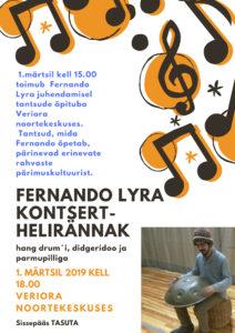 Fernandu Lyra juhendamisel tantsude õpituba @ Veriora Noortekeskus | Veriora | Põlva maakond | Eesti