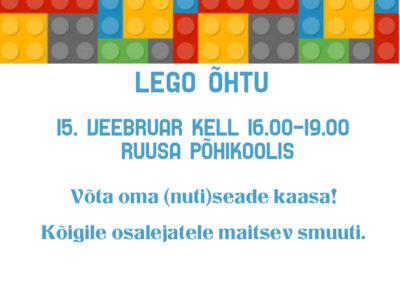 Lego õhtu @ Ruusa Põhikool | Ruusa | Põlva maakond | Eesti