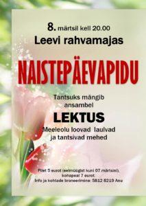 Naistepäevapidu @ Leevi Rahvamaja | Leevi | Põlva maakond | Eesti