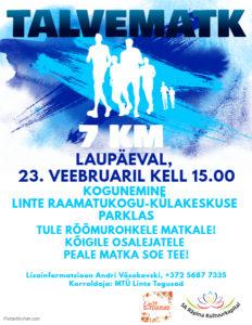 Talvematk @ Linte külakeskus-raamatukogu  | Linte | Põlva maakond | Eesti