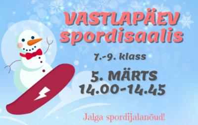Vastlapäev spordisaalis 7.-9. klass @ Ruusa Põhikool | Ruusa | Põlva maakond | Eesti