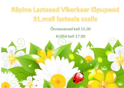Lõpupeod lasteaias @ Räpina Lasteaed Vikerkaar | Räpina | Põlva maakond | Eesti