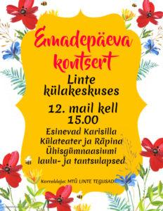 Emadepäeva kontsert Lintes @ Linte Raamatukogu - Külakeskus | Linte | Põlva maakond | Eesti
