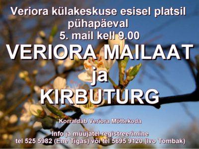 Veriora mailaat ja kirbuturg @ Veriora külakeskuse esine plats | Veriora | Põlva maakond | Eesti