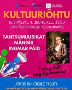 KULTUURIÕHTU @ Linte Raamatukogu- Külakeskus | Linte | Põlva maakond | Eesti