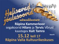 Advendikontsert @ Räpina Valla Kultuurikeskus | Räpina | Põlva maakond | Eesti