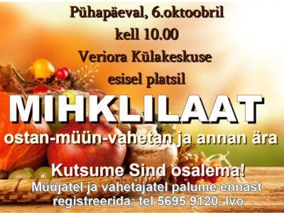 Mihklilaat @ Veriora külakeskuse plats | Veriora | Põlva maakond | Eesti