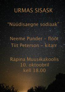 Tiit Peterson (kitarr) ja Neeme Punder (flööt) kontsert @ Räpina Muusikakool | Räpina | Põlva maakond | Eesti